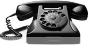 Bild: Altes Telefon mit Wählscheibe