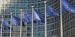 Bild: Europa-Flaggen in Brüssel