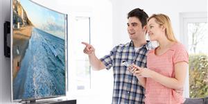 Bild: Fernsehen - gebogener Bildschirm
