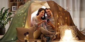 Bild: Gemütliche im Zelt zu Hause