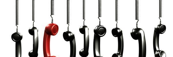 Bild: Hängende Telefone