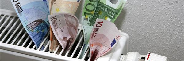Bild: Heizkörper mit Geldscheinen