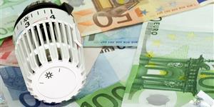 Bild: Heizungsregler mit Geld