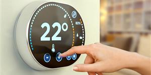 Bild: Digitales Wandthermostat