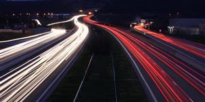 Bild: Lichter der Autobahn