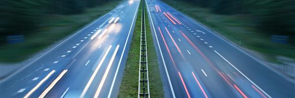 Bild: Lichter einer Autobahn