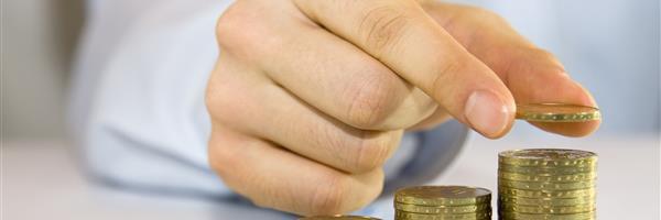 Bild: Münzgeld wird gestapelt
