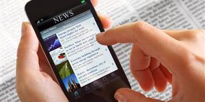 Bild: Nachrichten lesen auf Smartphone