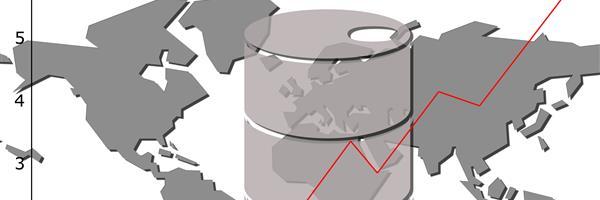 Bild: Ölfass mit ansteigendem Diagramm