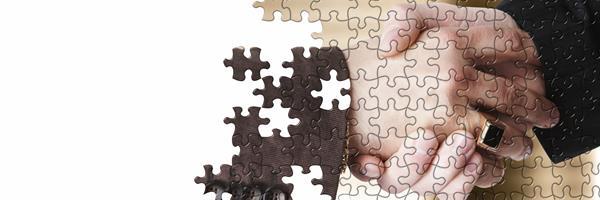 Bild: Puzzlebild: Handschlag