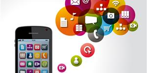 Bild: Smartphone, Cloud, Icons
