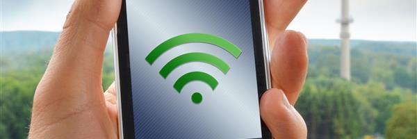 Bild: Smartphone mit Funksignal