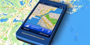 Bild: Smartphone mit GPS-Navigation