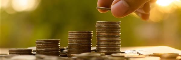 Bild: Symbolfoto Investitionen mit Münzstapeln