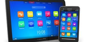 Bild: Tablet-PC und Smartphone