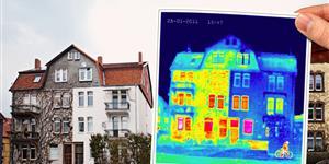 Bild: Thermografie Heizung Haus