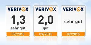 Bild: Verivox Qualitätssiegel 2015