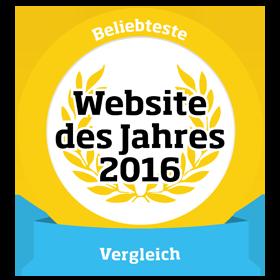 Webseite des Jahres Siegel
